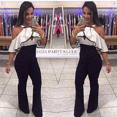 zpr VENDAS pelo site Loja.partystyle.com.br Esse macacão é um arraso !!! Macacão longo preto e branco de malha grossa suplex com zíper nas costas !  R$175,00 reais em 3 X no cartão !  Tamanho único  FRETE GRÁTIS  Loja.partystyle.com.br . - - * #lojapartystyle_ #modafeminina #modacasual #modapraia #moda #fashion #tendencia #trend #verao #summer #ss16 #sale #promocao #vestido #vestidos #vestidosdefesta #ecommerce #lojavirtual #vestidos #vestidodetricot #neoprene #saia #body 💙…