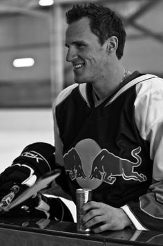 Dion Phaneuf - Captain of the Toronto Maple Leafs RedBull suited In an unmistakably upward direction