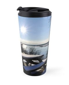 Heiß oder Kalt - Thermosbecher - Motiv: Wintersonne über der Elbe Travel Mug, It Works, Mugs, Tableware, Accessories, Cold, Tumblers, Dinnerware, Tablewares