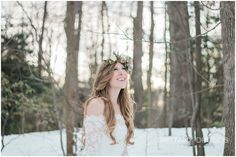 Whimsical Winter Wedding Inspiration, whimsical winter bride. Winter flowers. Image by Brittany Drosos Photography Model: Sara Kate Couture Makeup: Laura Henderson MUA and Blogger  Hair: Kirsten Marie Design LLC  Gown available at: Ebrada Atelier  Gown Designer: ZAKAA Flowers: Joy & Co. Events  Accessories: KNR_Handmade  Behind the Scenes Photographer & Blogger: Always Creating Blog