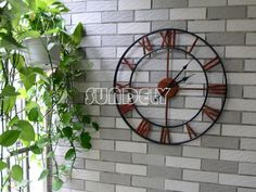 47Cm Large Metal Wall Clock Vintage Business Office Home Bar Hotel Decoration