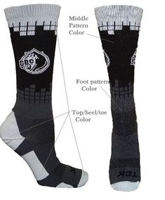 Frequency Custom Crew Socks with Logo by Twin City Custom Socks, Sock Shop, Team Uniforms, Twin Cities, Fashion Socks, Lycra Spandex, Ankle Socks, Top Pattern, Crew Socks