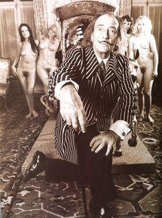 dirtcrumbgoddess:    Salvador Dali and his models