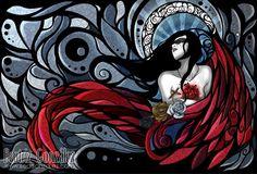 Bea Gonzalez (Vhea)'s Portfolio. Here you can find all my new Digital art and ilustrations Digital Portrait, Digital Art, Beautiful Fantasy Art, Angel Art, Stained Glass Art, Artist Art, Street Art, Illustration Art, Drawings