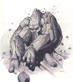 SciFi and Fantasy Art Earth Elemental by Omar Morsy