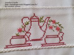 This Pin was discovered by Фёд Cross Stitch Kitchen, Mini Cross Stitch, Cross Stitch Borders, Cross Stitch Flowers, Cross Stitch Designs, Cross Stitching, Cross Stitch Patterns, Swedish Embroidery, Wool Embroidery