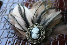 DIY Fascinator with cameo brooch. Great for the Diamond Jubilee.
