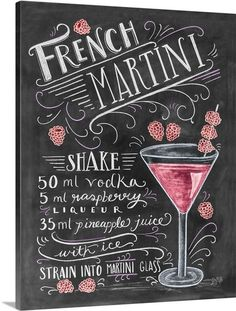 French Martini Handlettering