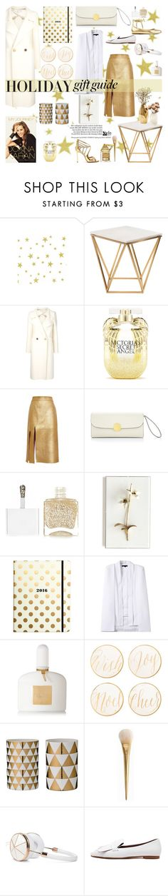 """""""White & Gold"""" by naki14 ❤ liked on Polyvore featuring Nuevo, Maison Rabih Kayrouz, Nate Berkus, Victoria's Secret, Nina Ricci, Marc Jacobs, Nails Inc., Tommy Mitchell, Kate Spade and Tom Ford"""