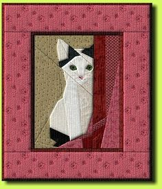 Cat paper pieced pattern