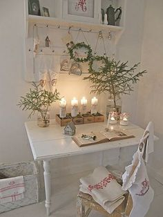 pretty #christmas desk