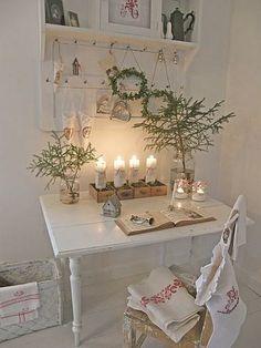 pretty #christmas desk