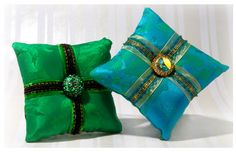 Vintage French trim, vintage brooches, Deborah Main Designs, designer pillows, luxury decorative pillows