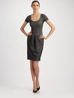 Saks Herringbone Jersey Dress