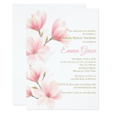 Elegant Floral Bridal Shower Invitation - wedding invitations cards custom invitation card design marriage party