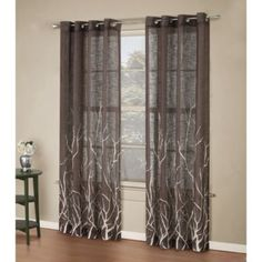 These are actually the curtains we got for our bedroom (in a light grey).  I love them w/the white sheers behind them!