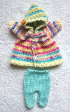 """Hand Knitted Dolls Clothes for 8""""  OOAK  Doll (# 358)"""