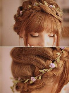 peinado-para-novia-con-flequillo-y-corona-flores