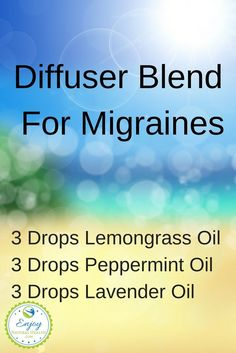 Lemongrass Essential Oil Benefits - Enjoy Natural Health - This diffuser blend for migraines with lemongrass works miracles for me. Learn what else lemongrass - Essential Oil Diffuser Blends, Doterra Essential Oils, Migraine Essential Oil Blend, Essential Oils For Migraines, Migraine Oils, Mixing Essential Oils, Essential Oil Combinations, Doterra Diffuser, Essential Oils For Sleep