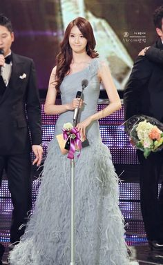 Yoona in her favorite color gown