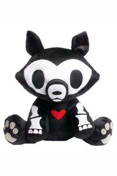 Jae-the-Wolf skelanimal plush