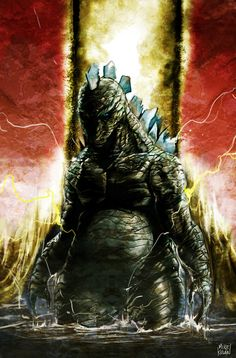 Godzilla. In Colour. by Mike Kevan