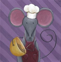 Cute mouse kitchen art.