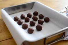 Dziewczynki: dom cukierki czekoladowe trufle Mini Cheesecakes, Dessert Recipes, Desserts, Kitchen Recipes, Chocolate Recipes, Aficionados, Breakfast, Sweet, Stretching