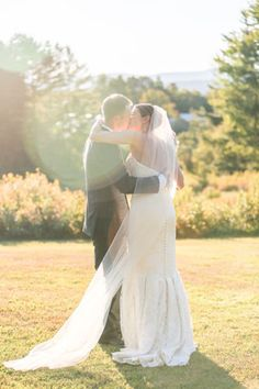 The Vermont light adds a magical touch to an already touching moment. // Photo courtesy of Rodeo & Co. Photography