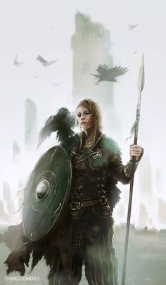 Kalinnen Shield Maiden by Daniel Comerci