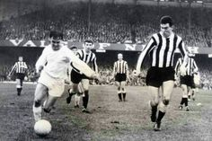 Swansea T. 1 Newcastle U. 0 in Jan 1965 at the Vetch Field. Swansea on the attack in the FA Cup 3rd Round.