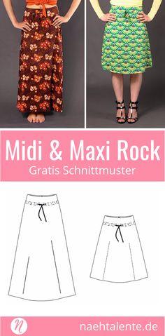 Kostenloses Schnittmuster für Röcke in A-Linie für Damen ❤ Midi & Maxi-Länge ❤ PDF-Schnittmuster in Gr. 36 - 48 zum Drucken ✂ Nähtalente.de - Magazin für kostenlose Schnittmuster und Hobbyschneiderinnen ✂ Free sewing pattern for a skirt in A-line in Size 36 - 48 for print at home. ✂ Nähtalente.de - Magazin for sewing and free sewing patterns ✂ #nähen #freebook #schnittmuster #gratis #nähenmachtglücklich #freesewingpattern #handmade #diy