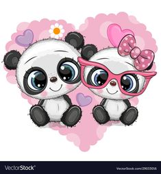 Cartoon Pandas on a heart background - Buy this stock vector and explore similar vectors at Adobe Stock Cute Panda Drawing, Cute Panda Cartoon, Baby Animal Drawings, Cute Cartoon Drawings, Panda Wallpapers, Cute Cartoon Wallpapers, Panda Background, Heart Background, Cute Panda Wallpaper