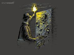 Indiana Jones and Star Wars Now THAT'S cool! (Except Han was released from the carbonite, but still a cool fandom mashup. Indiana Jones, Star Wars Art, Star Trek, Posters Geek, Mundo Nerd, The Force Is Strong, Star Wars Humor, Cultura Pop, Far Away