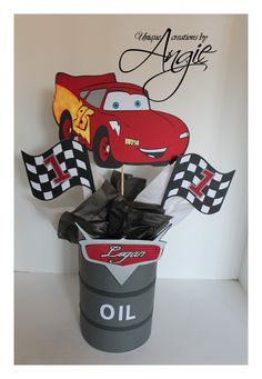 mcqueen decoration for party | SCRAPPIN MEMORIES: Disney cars centerpieces