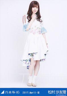 乃木坂46 松村沙友理 生写真 WebShop限定「2017.April-III スペシャル衣装5」発売中です。松村沙友理の生写真をお探しなら乃木坂46グッズの専門店-乃木専-へ。オンラインショップですので24時間買い物可能です! Blue Back, Japanese Beauty, Girl Group, Costumes, Lady, Shopping, Dresses, Girls, Fashion