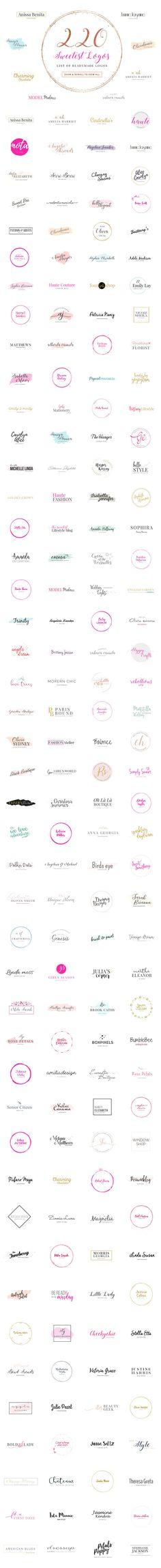 Girlboss Premade Branding Logo Pack by SNIPESCIENTIST on @creativemarket