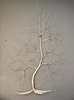 Art-3000: Picture wire tree wall sculpture