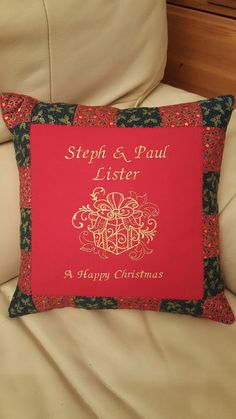 """Christmas 12"""" Cushion for that special present"""