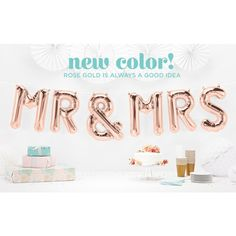 Mrs & Mrs Folienballons rosegold 34cm