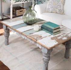 Distressed Painted Coffee Table