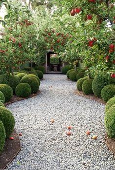 Paul Bangay's Stonefields Garden Gravel Garden, Garden Landscaping, Garden Path, Small Gardens, Outdoor Gardens, Apple Garden, Topiary Garden, Australian Garden, Garden Structures