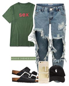 """""""7/22/16"""" by codeineweeknds ❤ liked on Polyvore featuring One Teaspoon and Birkenstock"""