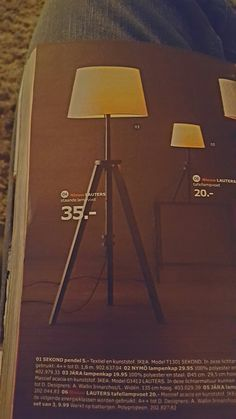 Staande lamp woonkamer (Ikea)