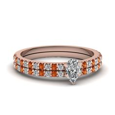 This magnificent wedding #ring set features a sparkling prong set center stone, which is further highlighted by a series of shimmering floating prong set round cut #diamonds placed beautifully in a neat line on the ring band giving it an elegant appeal.  http://jangmijewelry.com/