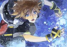 Sora - Kingdom Hearts II (be careful sora, dont drown buddy)