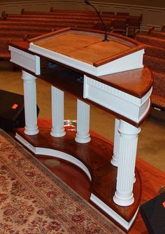Tsp 620 wood church pulpit puertas pinterest atril pulpos y reclinatorios - Muebles atril ...