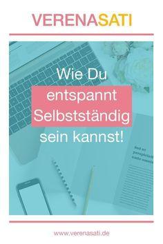 Durch den Blog von Simone Weissenbach bin ich auf die Blog-Parade zum Thema �entspannt selbstständig� aufmerksam geworden. Da dieses Thema meiner Meinung nach für jeden Selbstständigen wichtig ist, möchte auch ich dazu etwas schreiben. Ich musste es diese Business Design, Business Tips, Online Business, Content Marketing, Online Marketing, Social Media Marketing, Stress Management, Web Design, Business Inspiration