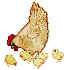 Free Chicken Applique Patterns | Country Chicken Applique - chicken09 - $3.99 : Golden Needle Designs ...