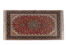 Important et fin TABRIZ (Iran), laine et soie, atelier impérial, belle laine…